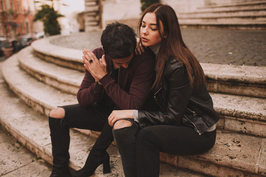 An Italian Addiction! Rome Engagement Shoot: Patricia & Fabio