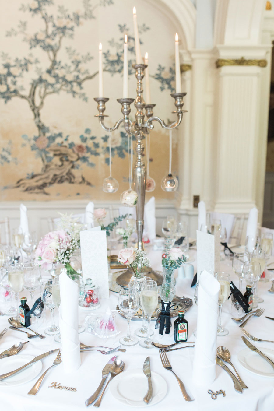 Stately Home Ballroom Wedding With Romantic Vintage Style: Tania & David