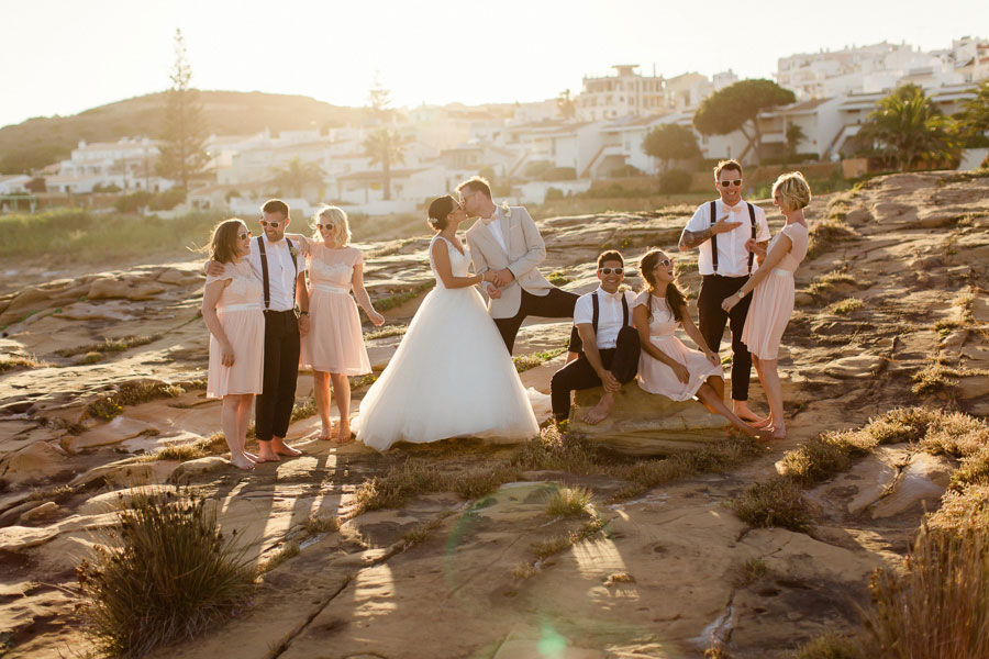 A DIY Peach & Rose Gold Wedding In Portugal0063