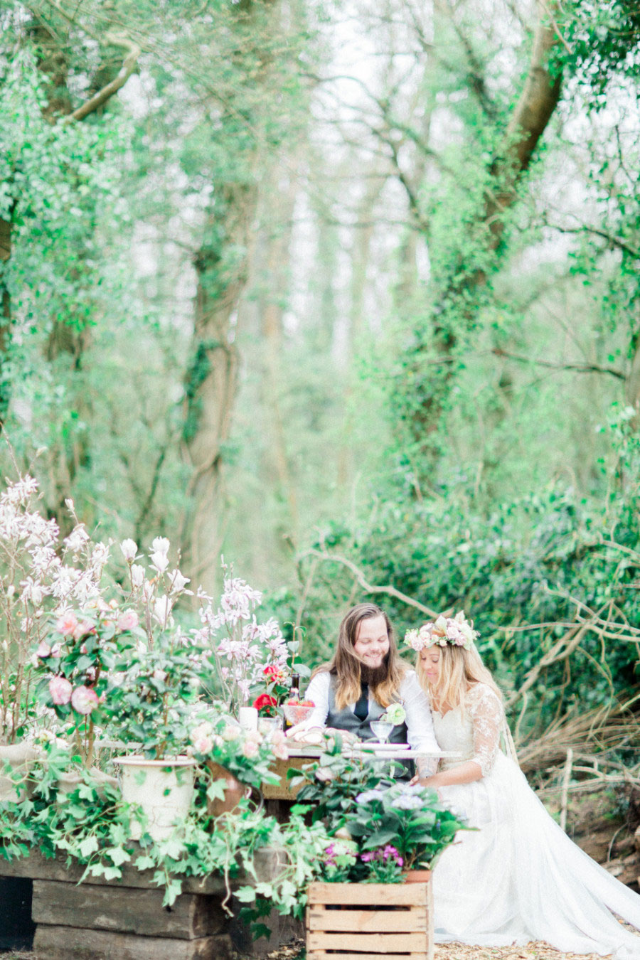Alone In The Woods Bridal Editorial0038