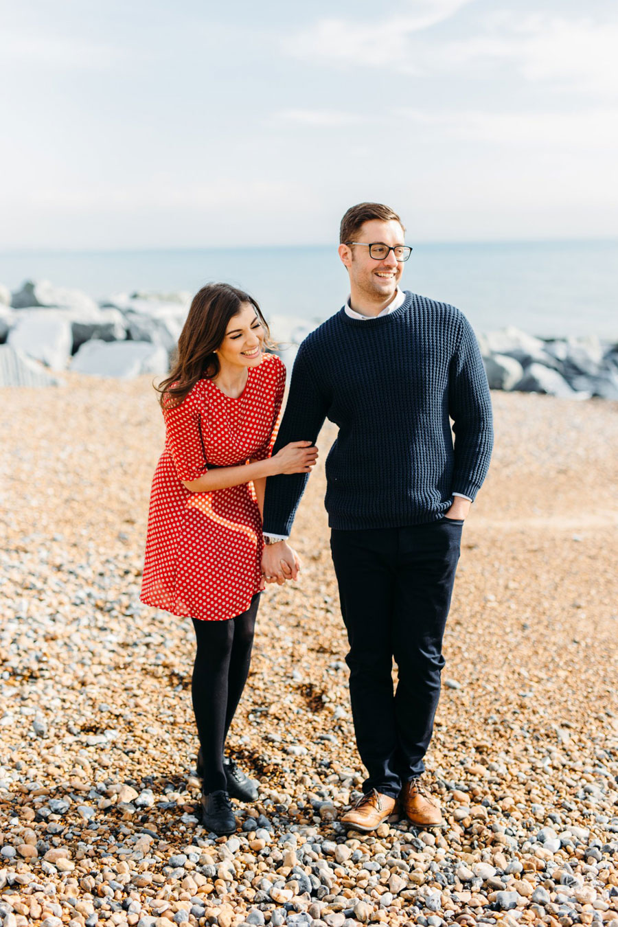 Shoreham Beach & Brighton Bandstand Engagement- Mike & Amy0014