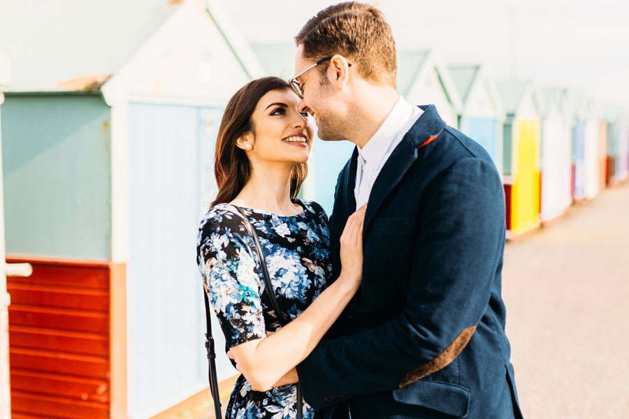 Beautiful Shoreham Beach & Brighton Bandstand Engagement: Mike & Amy