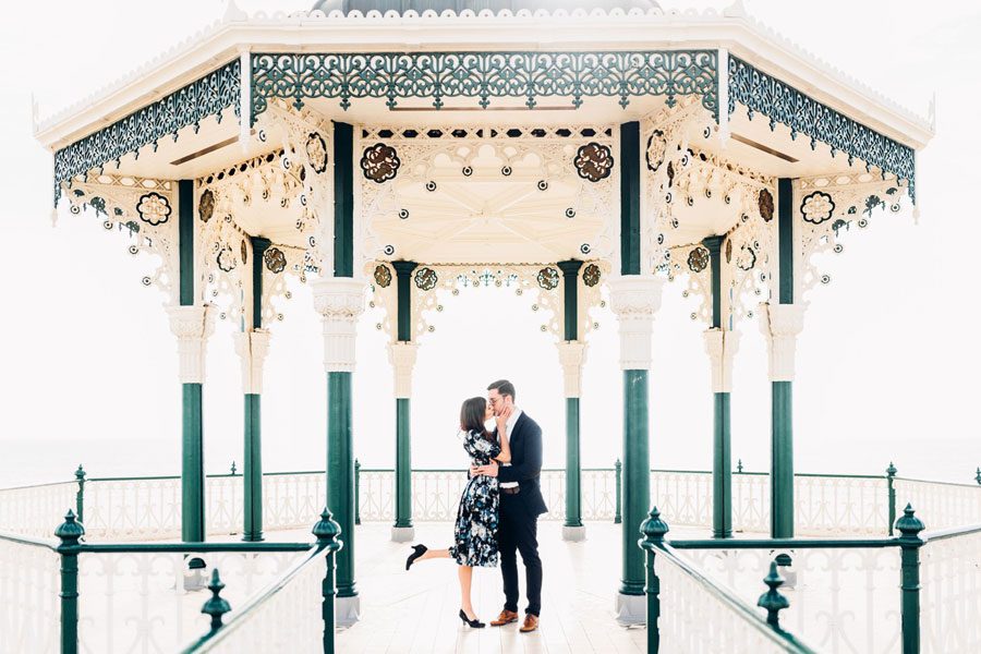 Shoreham Beach & Brighton Bandstand Engagement- Mike & Amy0026