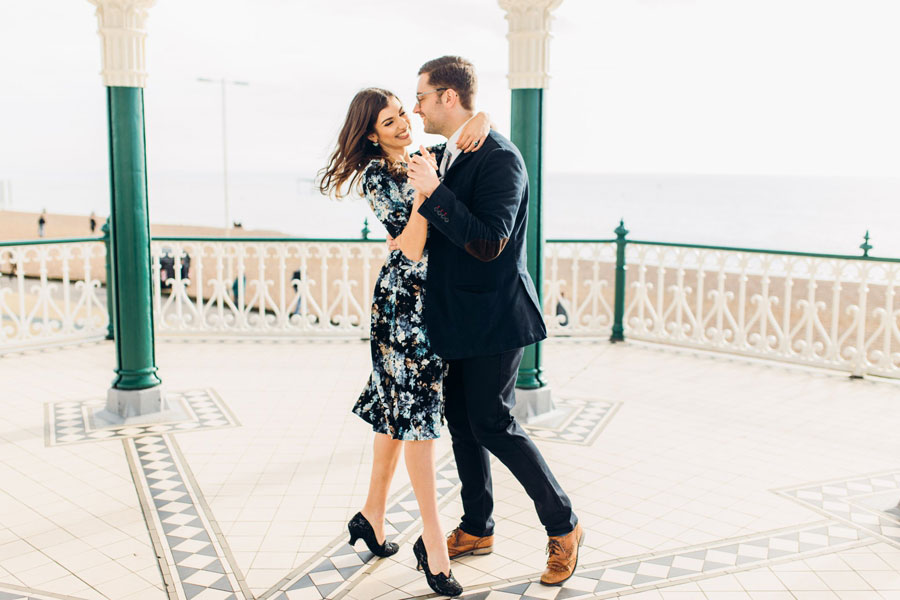 Shoreham Beach & Brighton Bandstand Engagement- Mike & Amy0027