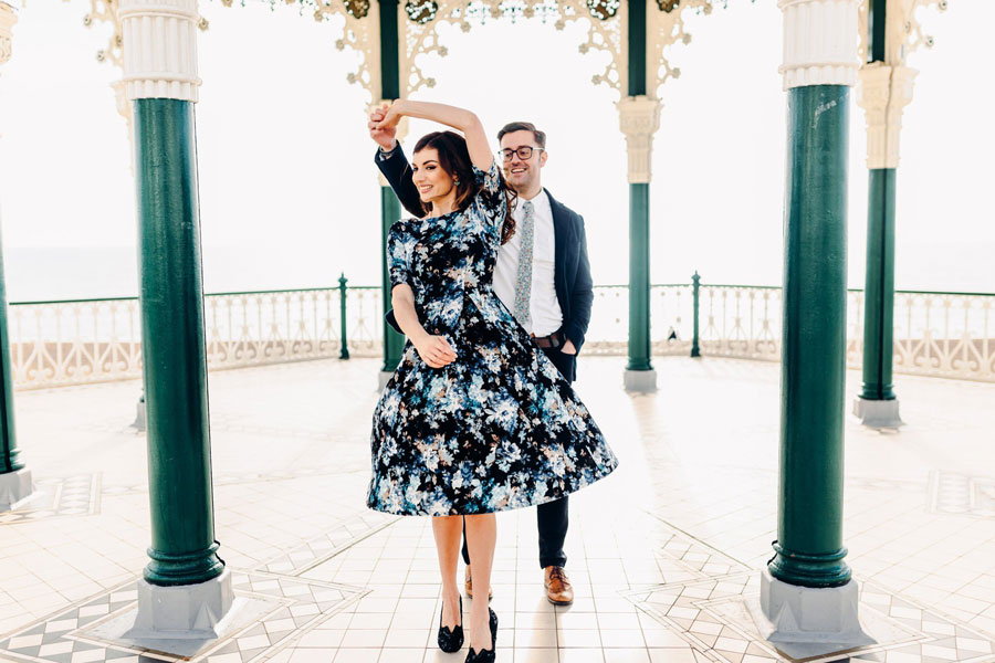 Shoreham Beach & Brighton Bandstand Engagement- Mike & Amy0028