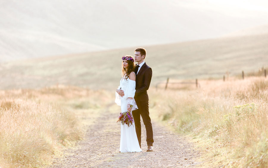 Beautiful Bohemian Yorkshire Moors Love Shoot!0007