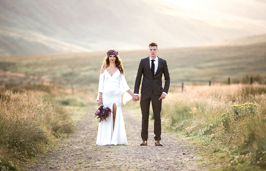 Beautiful Bohemian Yorkshire Moors Love Shoot!0008