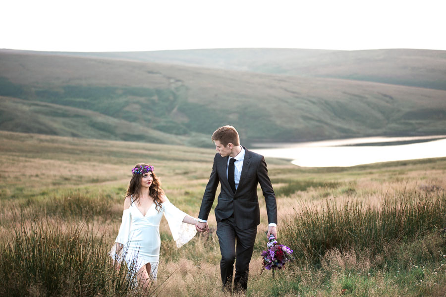 Beautiful Bohemian Yorkshire Moors Love Shoot!0013