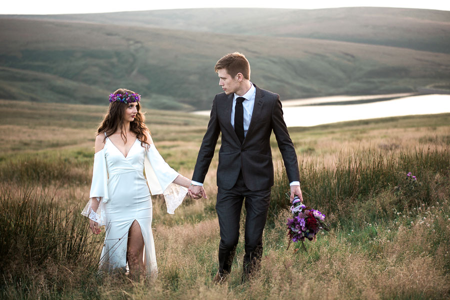 Beautiful Bohemian Yorkshire Moors Love Shoot!0014