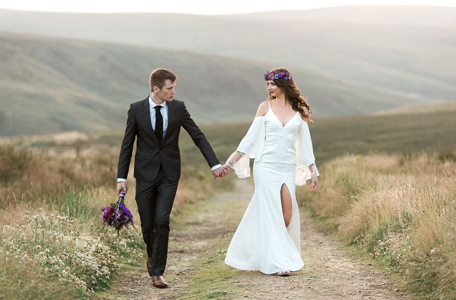 Beautiful Bohemian Yorkshire Moors Love Shoot!0018