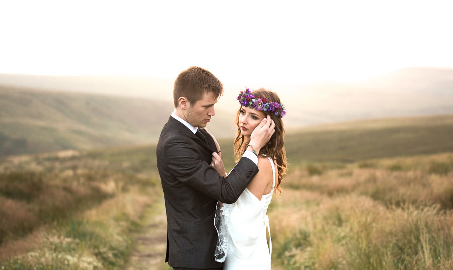 Beautiful Bohemian Yorkshire Moors Love Shoot!0019
