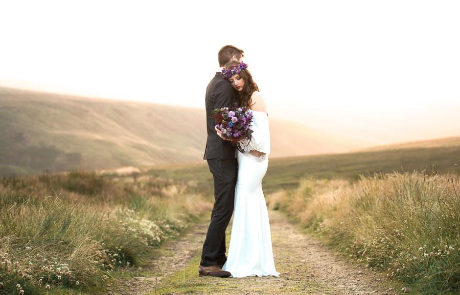 Beautiful Bohemian Yorkshire Moors Love Shoot!0025