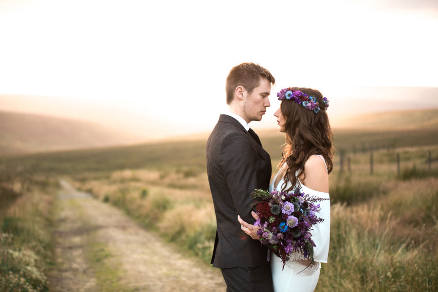 Beautiful Bohemian Yorkshire Moors Love Shoot!0026