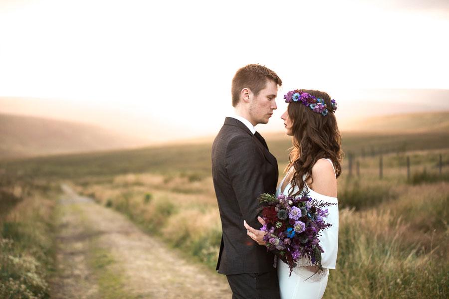 Beautiful Bohemian Yorkshire Moors Love Shoot!0026