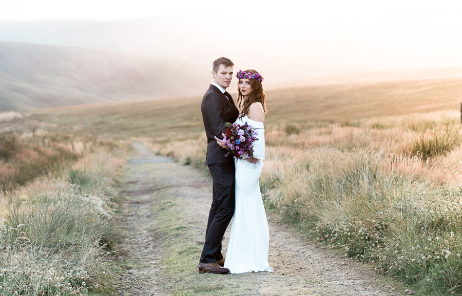 Beautiful Bohemian Yorkshire Moors Love Shoot!0029