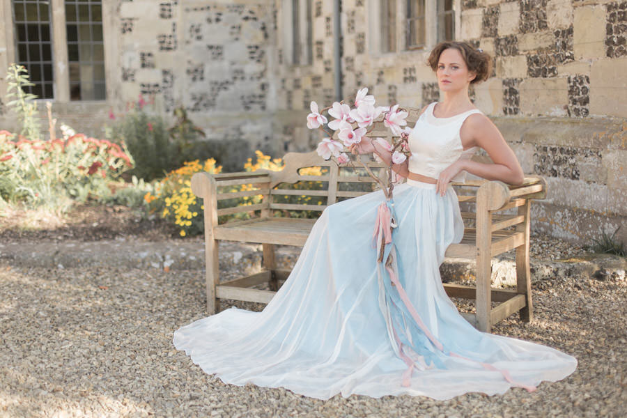 Natural Elements! A Fine-Art Inspired Wedding Editorial With Magnolia & Cherry Blossoms