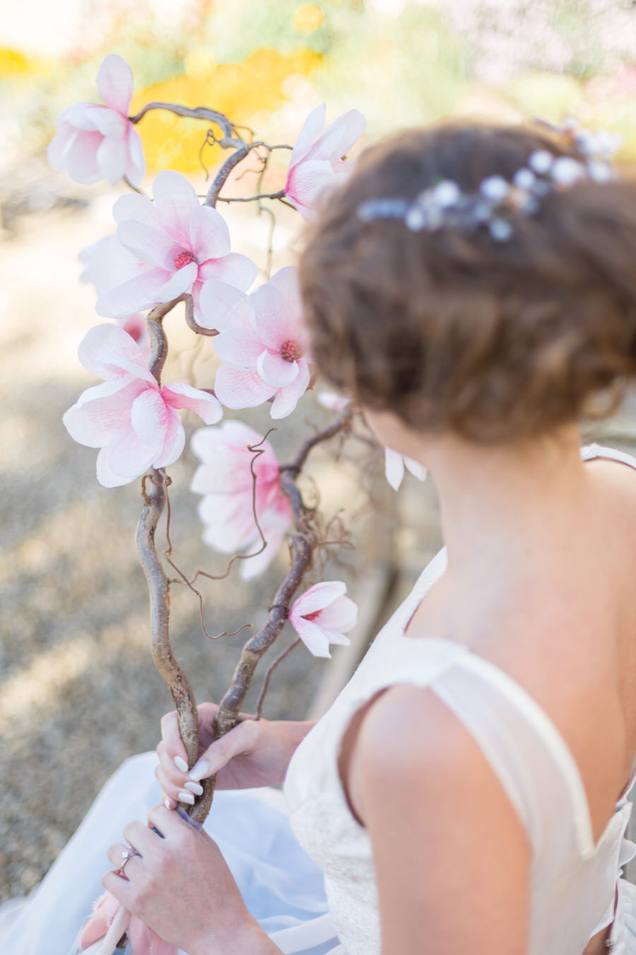 Natural Elements! A Fine-Art Inspired Editorial With Magnolia & Cherry Blossoms0021