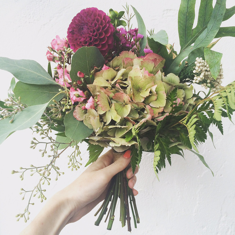 HITC Btitish flowers bouquet