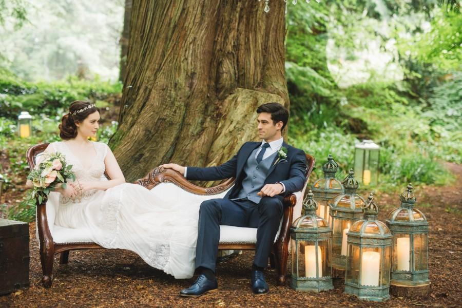 Evergreen Bridal Shoot in the Garden of Ireland!