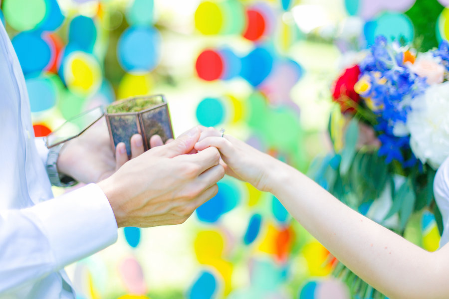 A Sweet & Colourful Rainbow Tinted Marriage Proposal: Pietro & Monica
