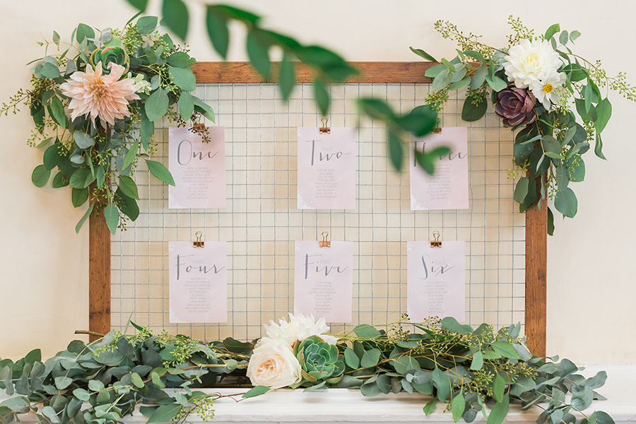 modern wedding table plan Greenwich