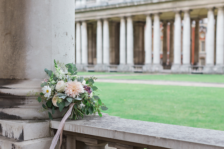 pretty bouquet in Royal Naval college Greenwich