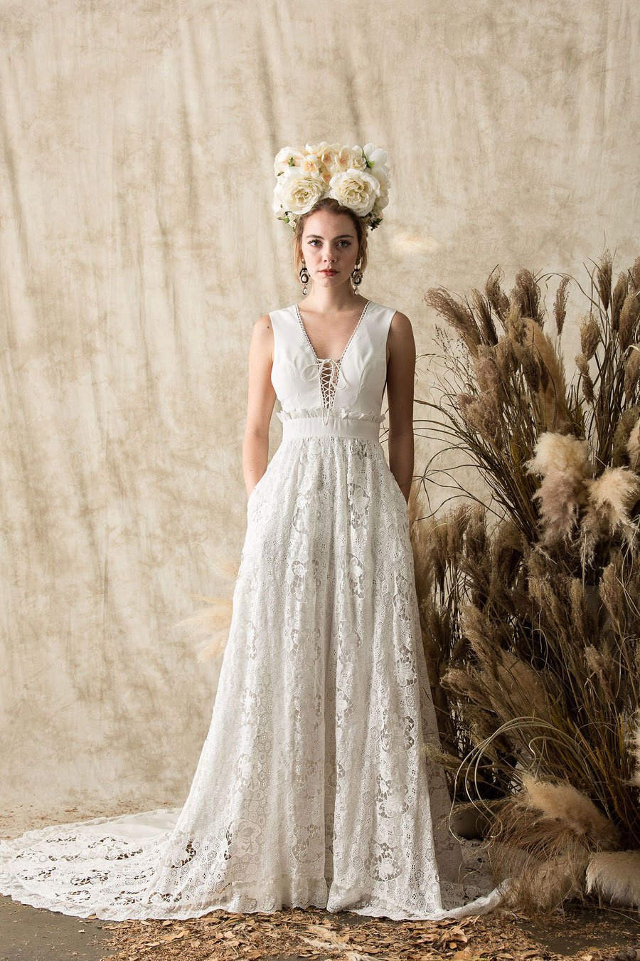 Laid back boho wedding dresses etheria by dreamers lovers entitled etheria the collection features a plethora of laid back boho wedding dresses and beautiful bridal separates made from luxurious embroidered lace junglespirit Image collections