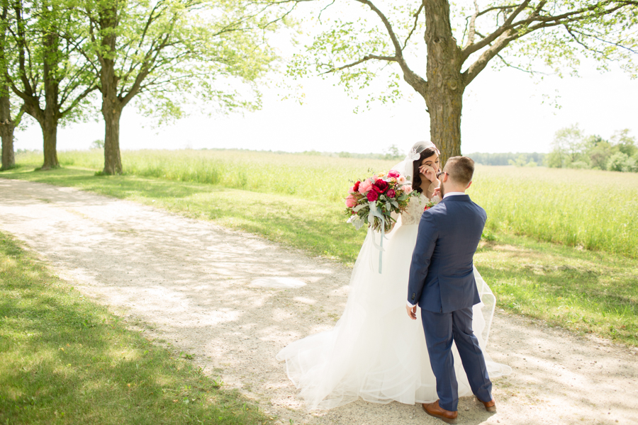 Incredible Bright & Bold Floral Wedding in Private Barn: Noelle & Ben