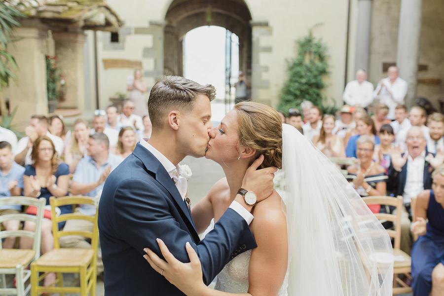 A Rustic, Romantic & Elegant Real Wedding in the Tuscan Hills: Jamie & Chiara
