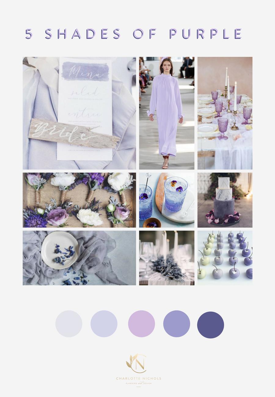 5 Shades of Purple Mood Board