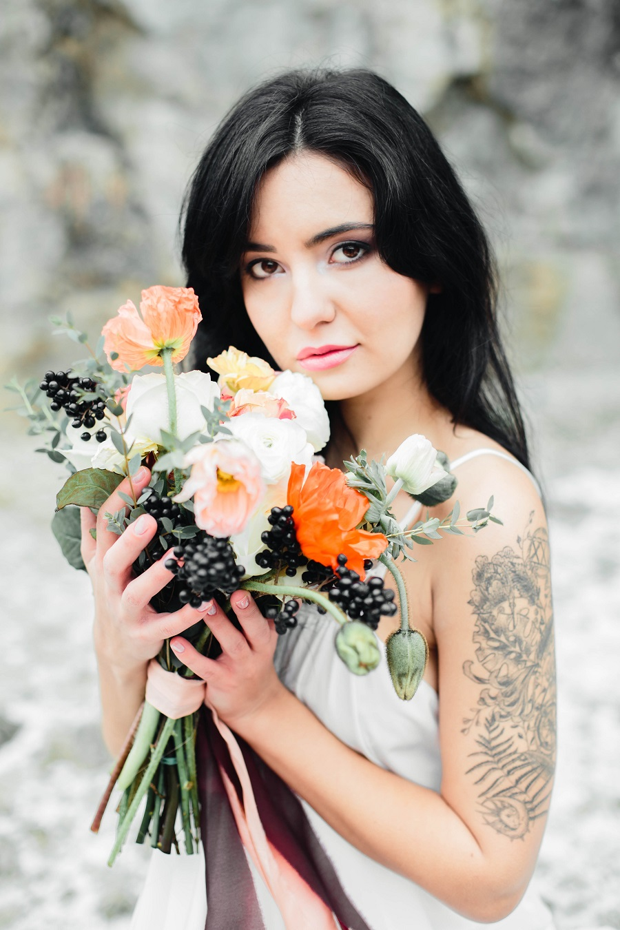 Black mood – wedding inspiration_Poland48