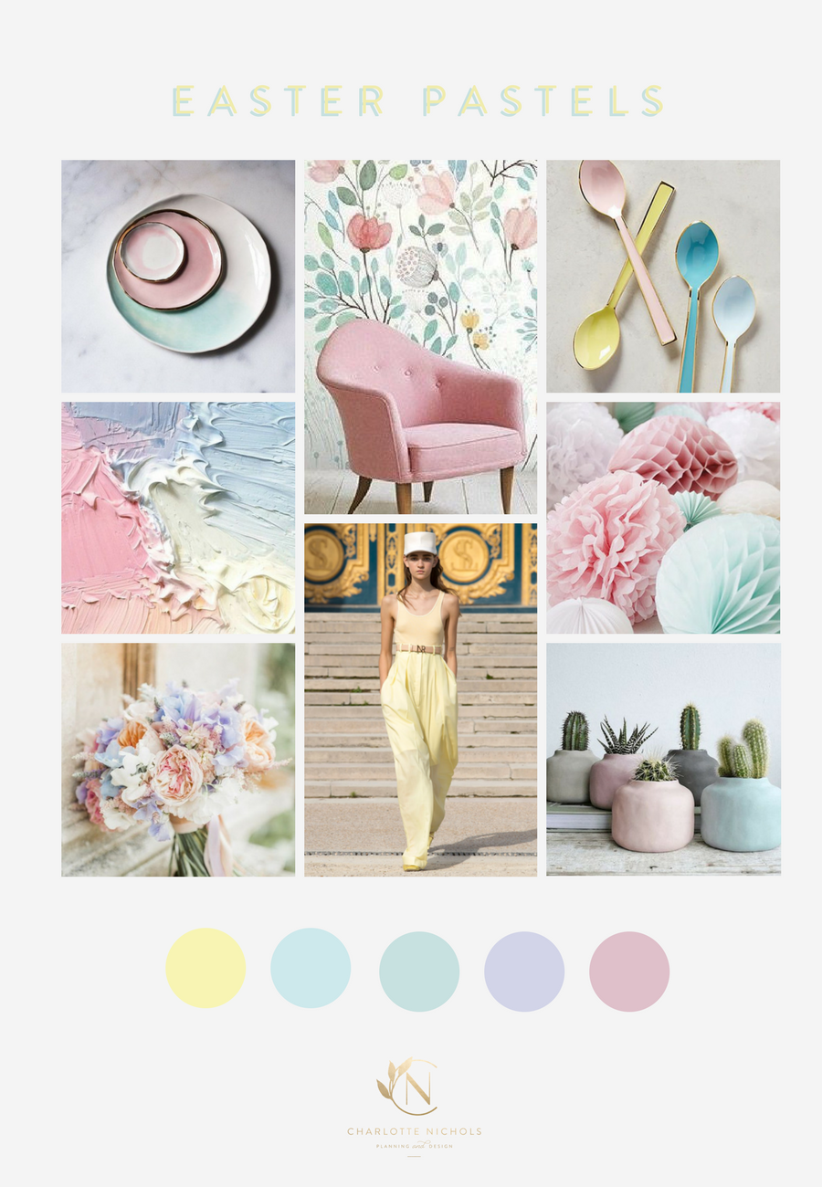 Easter Pastels Moodboard