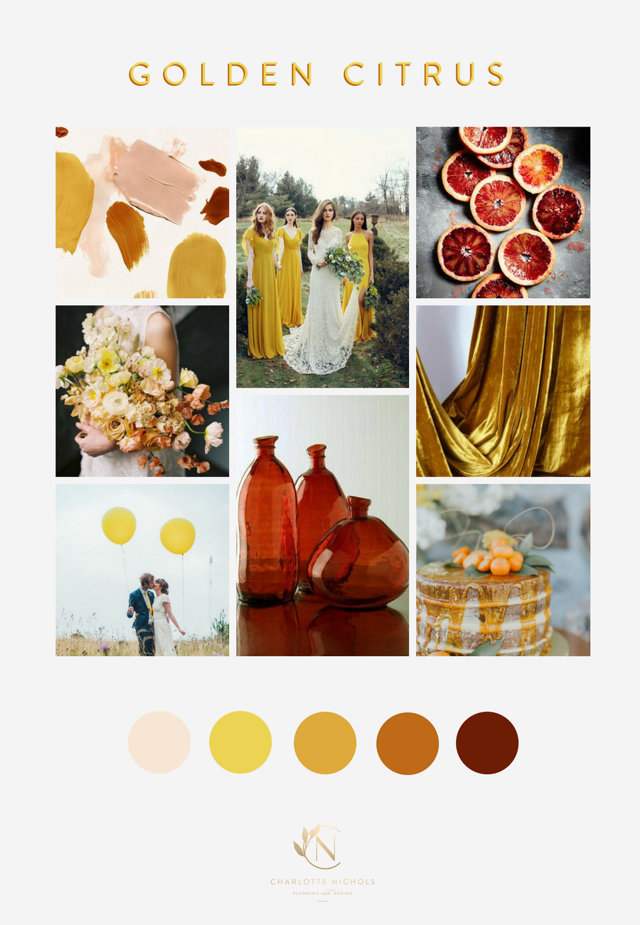 Golden Citrus Moodboard