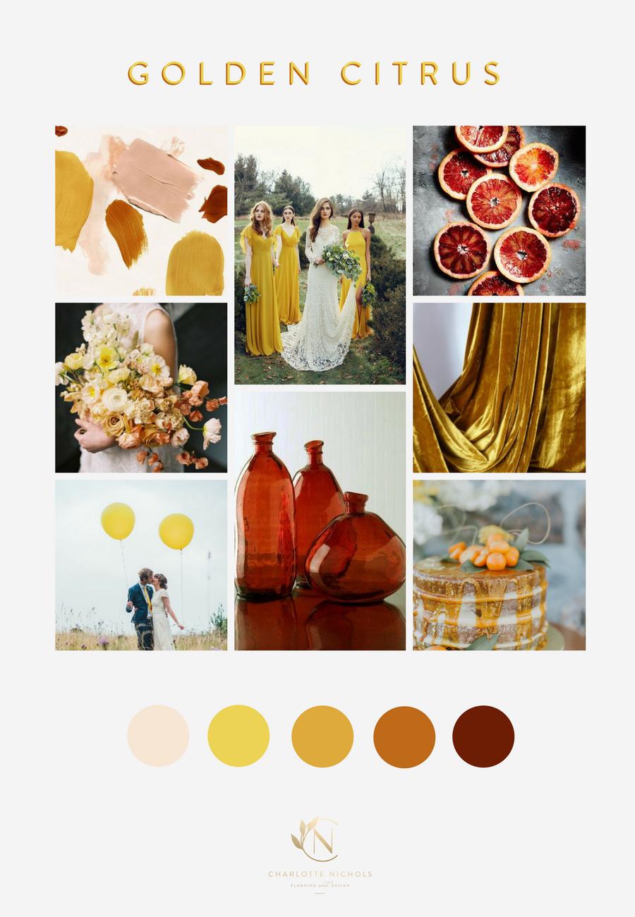 Golden Citrus Moodboard