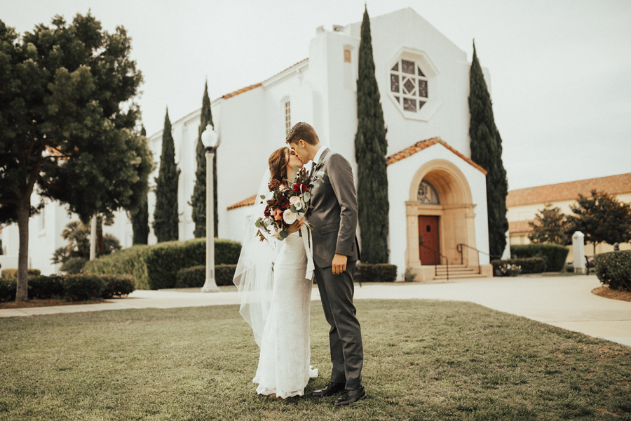 Deep Wine & Spice, A Minimalistic, Vintage Chapel Wedding: Sam & Kat