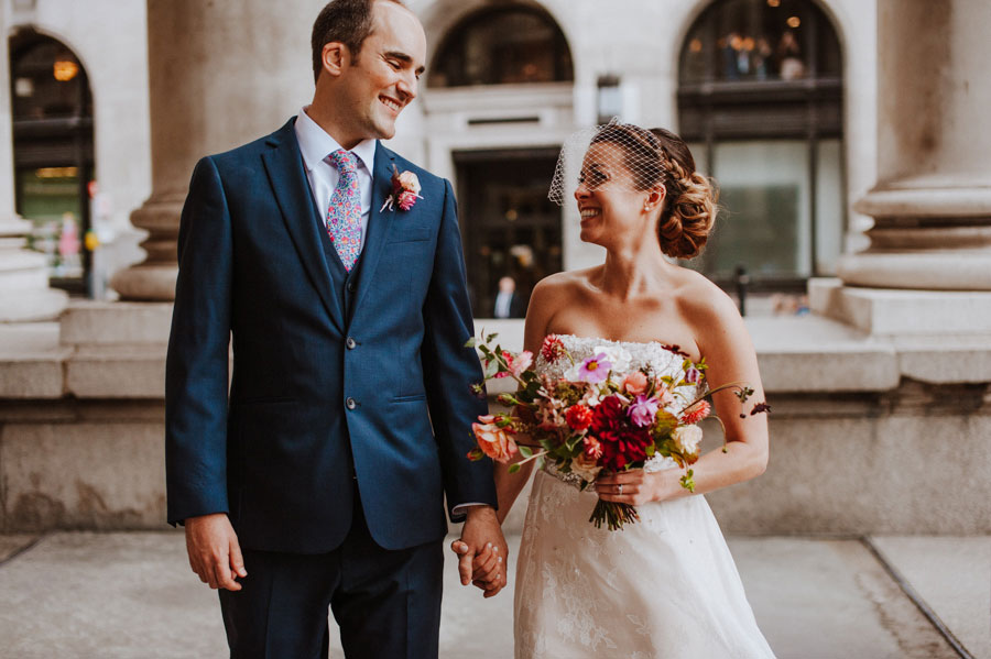 Wildflowers & Gospel! A London Banking Hall Real Wedding: Julia & Gareth.