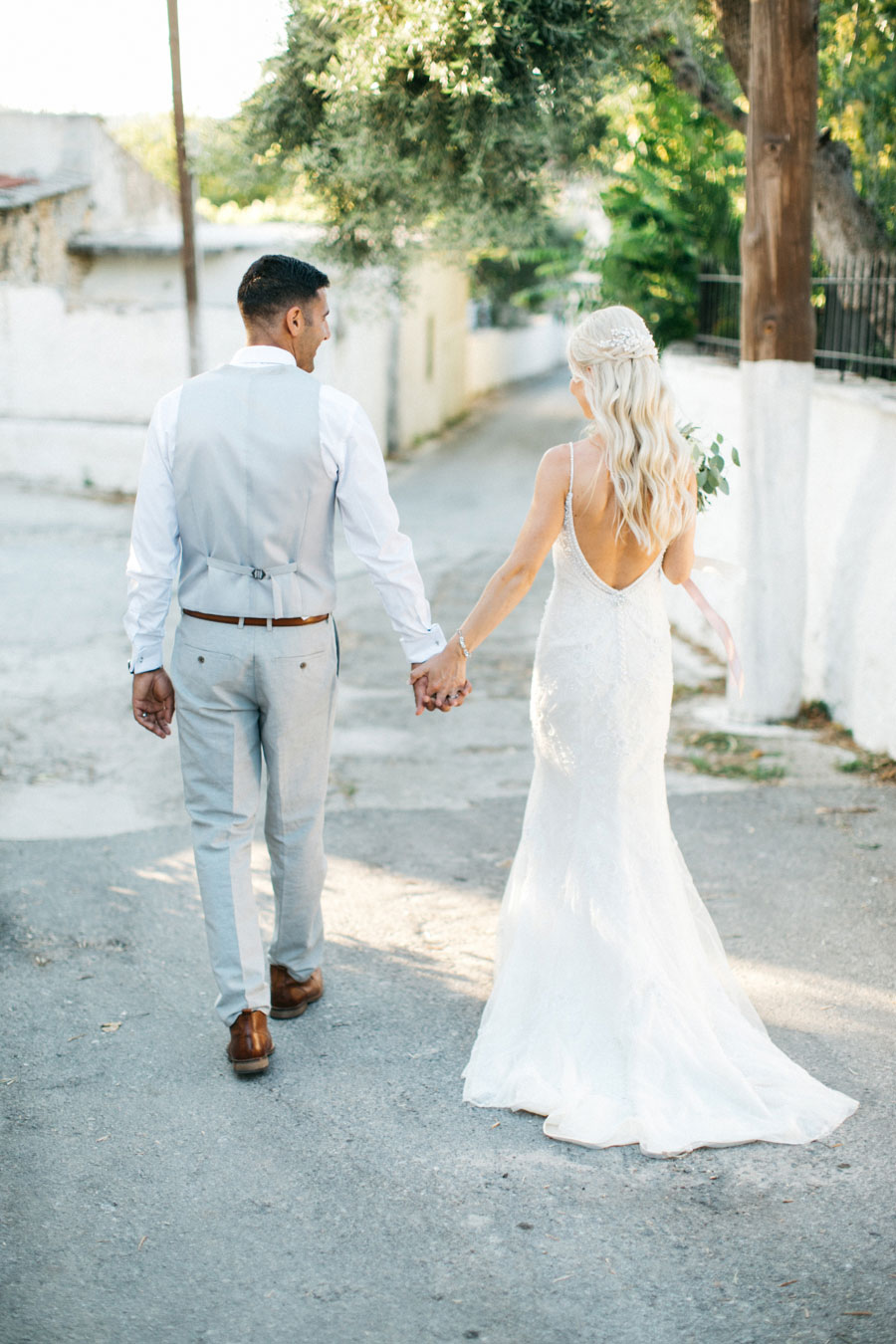Beautiful Rustic Villa Wedding in Crete With a Muted Pastel Colour ...