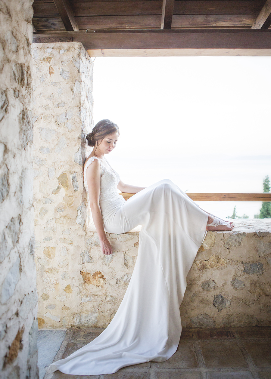 Barefoot Bride in Skiathos Destination Wedding with Natural Theme ...