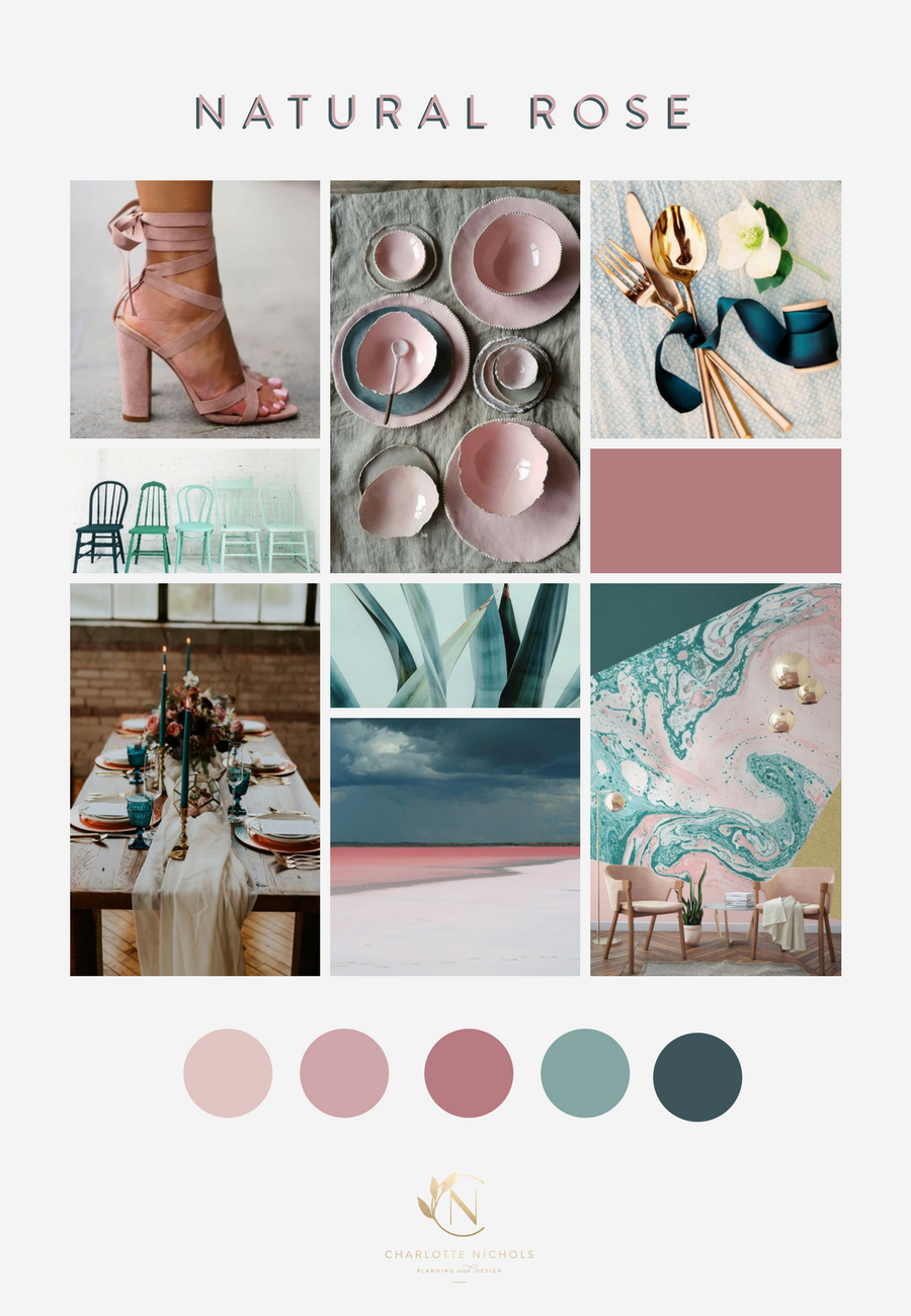 Natural Rose Mood Board