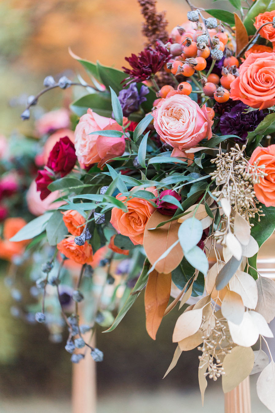Vibrantly Rich Forest Editorial flowers detail