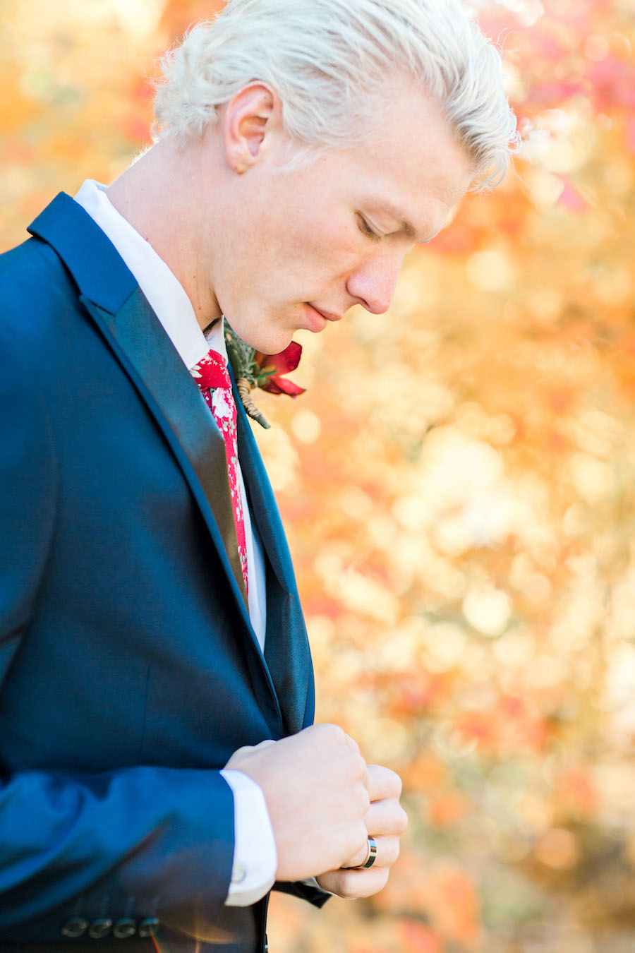 Vibrantly Rich Forest Editorial groom