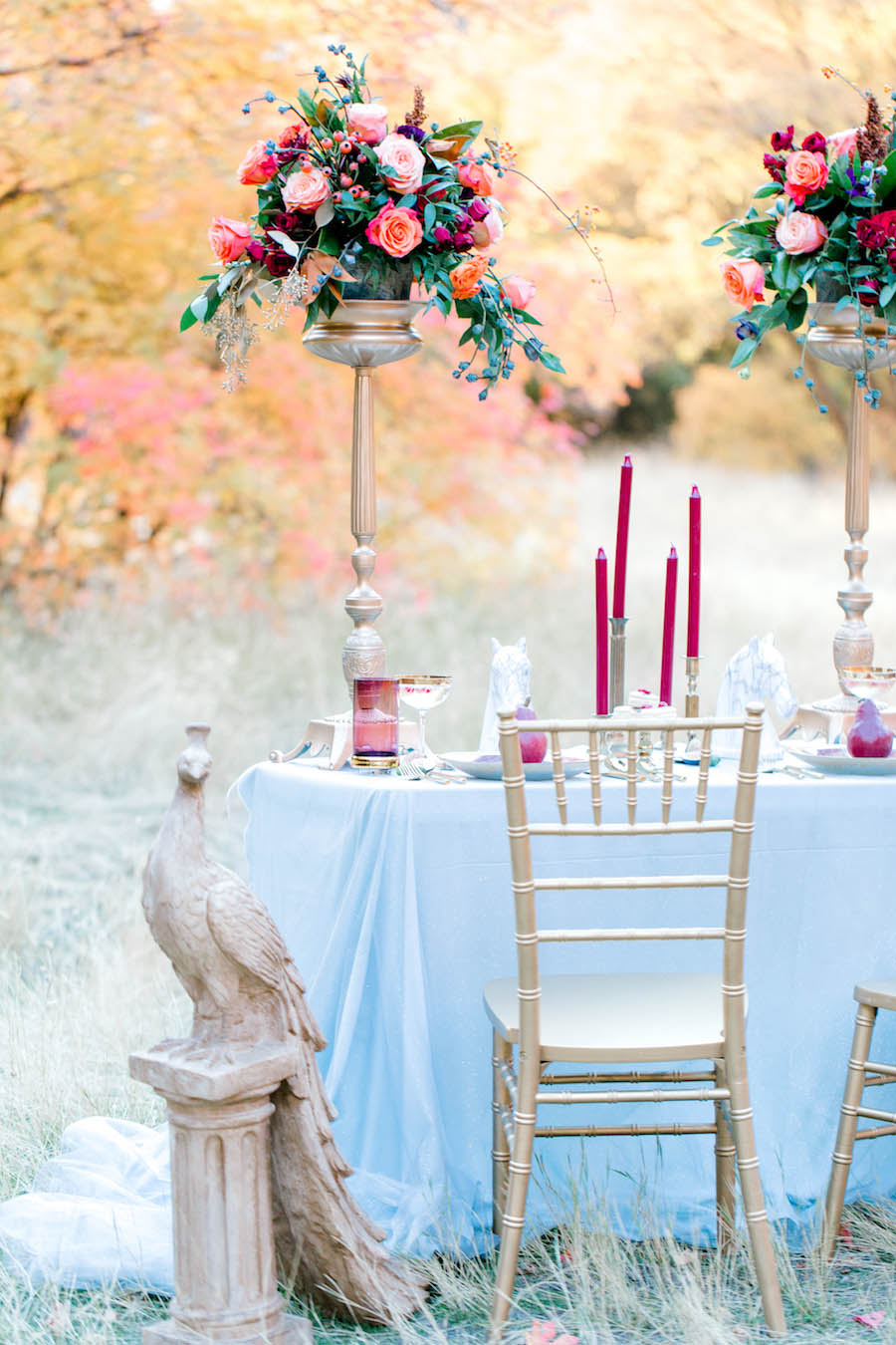 Vibrantly Rich Forest Editorial tablescape