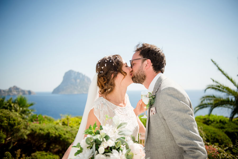 Chandeliers & Ostrich Feathers, Glam Boho Wedding in Ibiza: Nicola and Jimmy