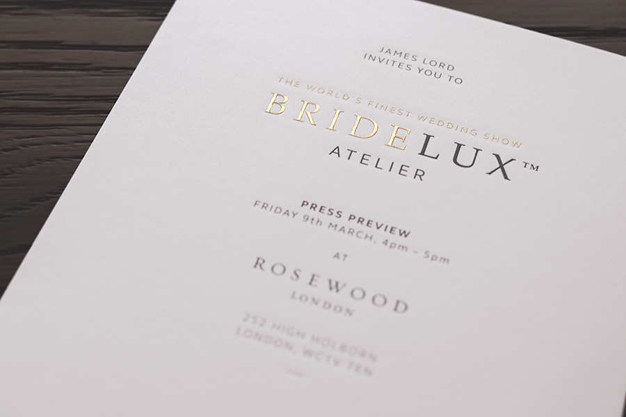 Bridelux Atelier London 2018 Invite