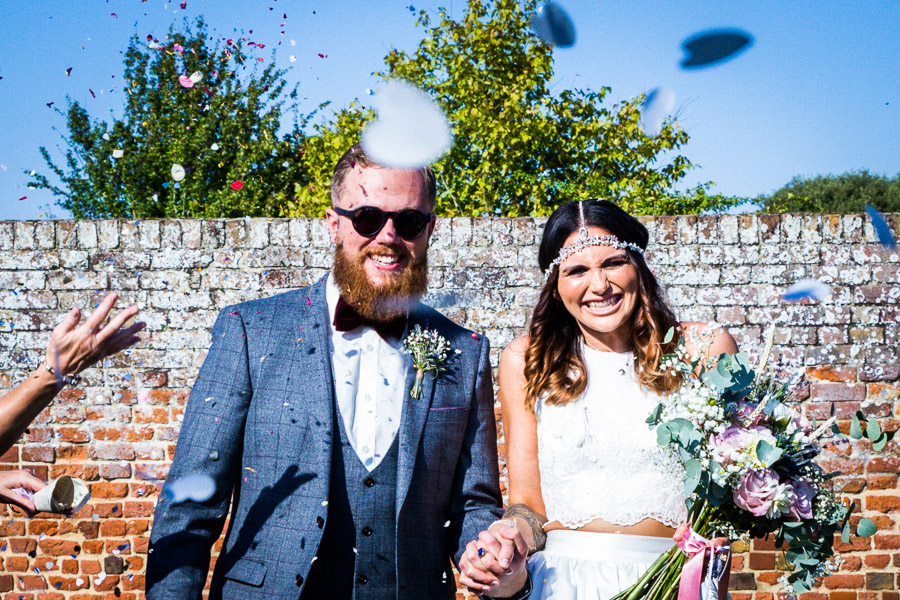 DIY Wildflowers, Walled Gardens & a Two-piece Wedding Dress: Anna & Tom