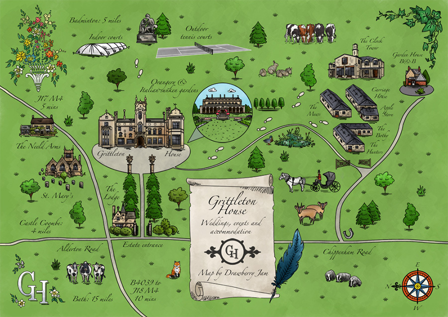 Grittleton House Map