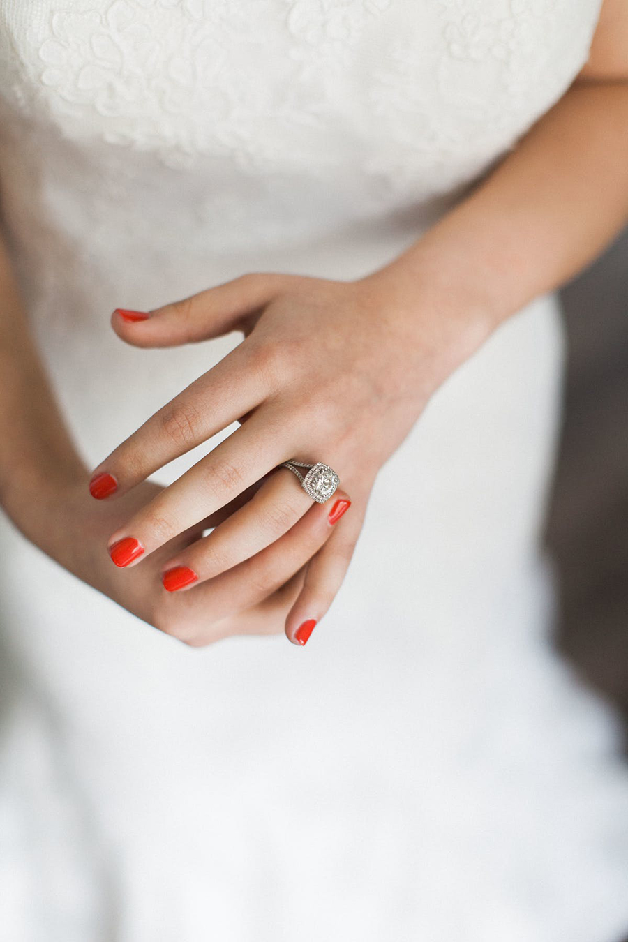 Chic Wedding Inspiration with a hint of scarlet red
