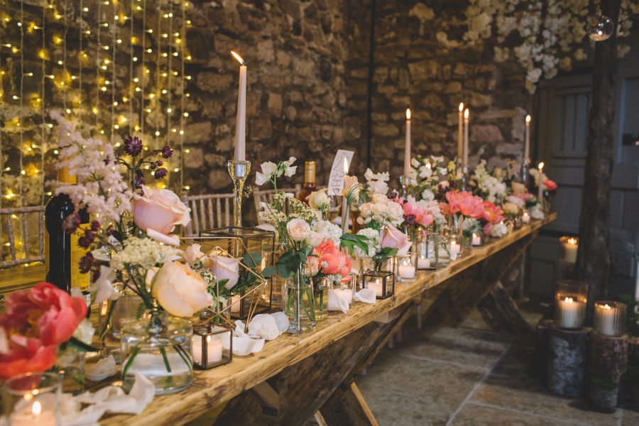 Pretty Barn Glitter Wedding With Gin & Crisp Bar: Sam & Amy