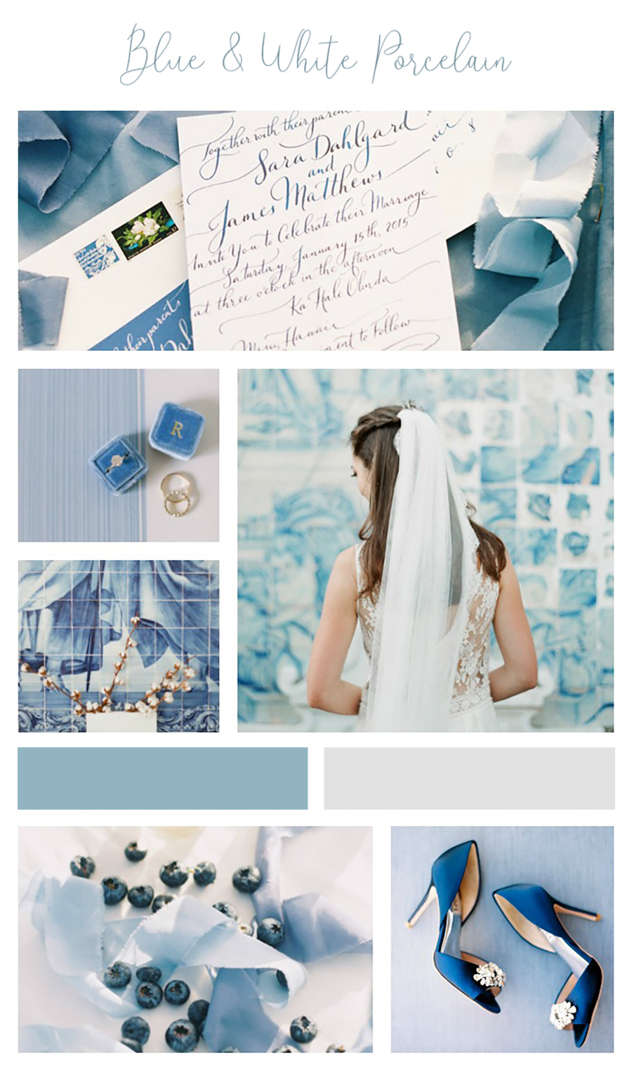 Wedding inspiration boards have had a little break of late, while I have been busy shooting. But I am dead excited to get back to it, with some seriously summery blue and white inspiration. This UK Summer might be one of the longest and hottest I can remember in years, so I wanted to work on something which felt as European and sun drenched as this weather.