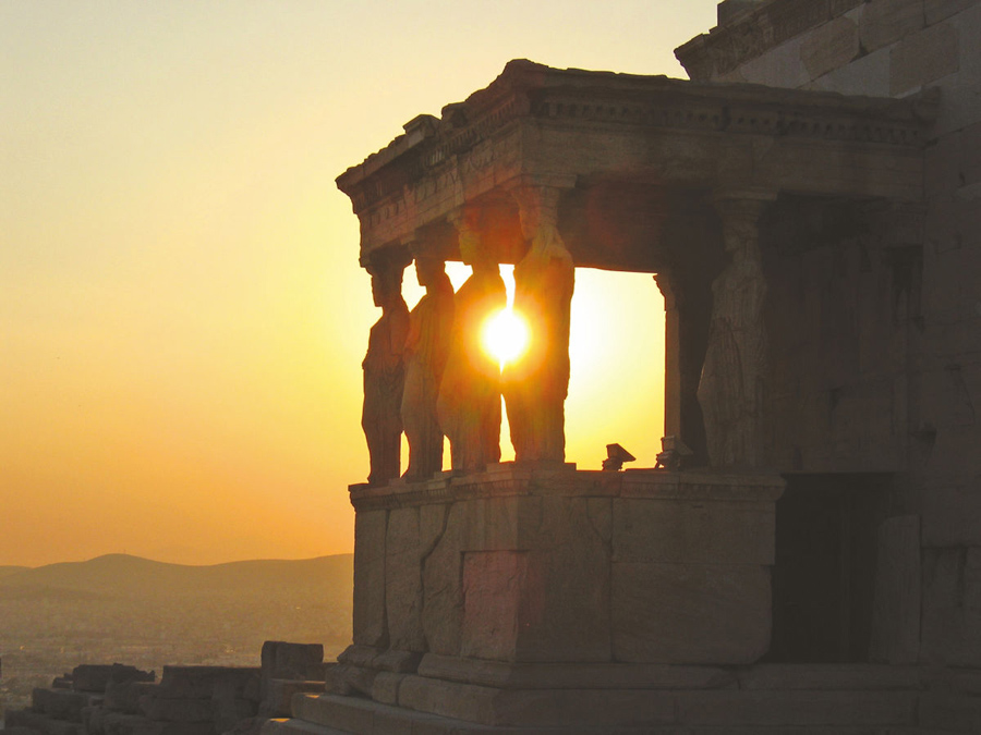 Athens_erechtheion sunset_porch of caryatids